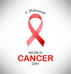 4 February World Cancer Day on pink background vector image