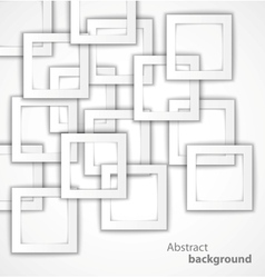 Abstract 3D square geometrical background vector image
