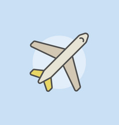 Airplane colorful icon vector