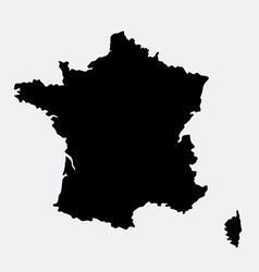 france island map silhouette vector image