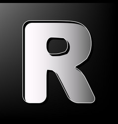 letter r sign design template element vector image vector image