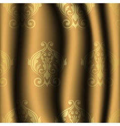 vintage material with gold pattern vector image vector image