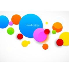 Colorful circles vector image vector image