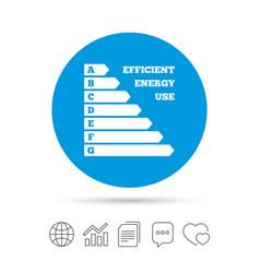 Energy efficiency icon electricity consumption vector