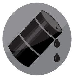 Flat icon oil barrel vector image