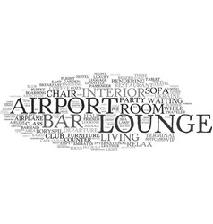 Lounge word cloud concept vector
