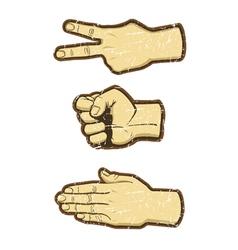 rock scissors paper vector image