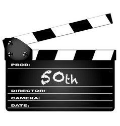 50th year clapperboard vector