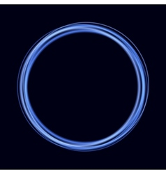 Abstract Background with Blue Shiny Rings vector image