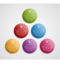 Abstract color circle infographic design template vector