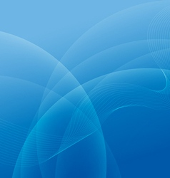 Abstract light and blue wave lines background vector
