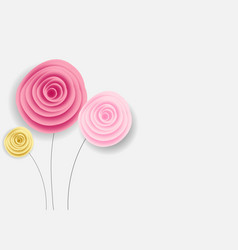 Abstract paper flower background vector