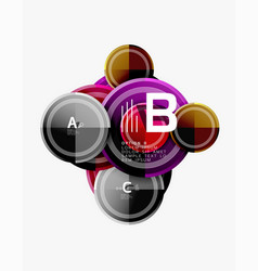 abstract round geometric shapes modern circles vector image