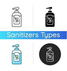 Alcohol free sanitizer icon vector