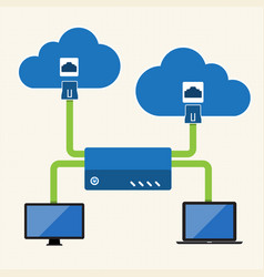 Big data cloud computing concept vector