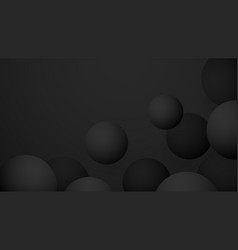 black premium ball abstract background vector image