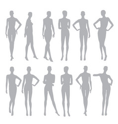 Black silhouettes dummies fashion store vector
