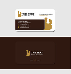 broker business cards template brand and branding vector image