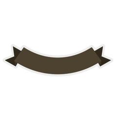brown ribbon icon label design graphic vector image