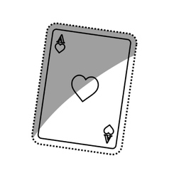 Casino card game concept vector