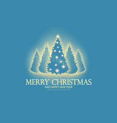 christmas holiday design template with shining fir vector image