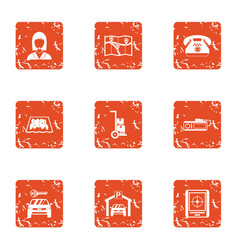 Clue icons set grunge style vector