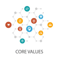 Core values presentation template cover layout vector