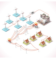Energy 16 Infographic Isometric vector image