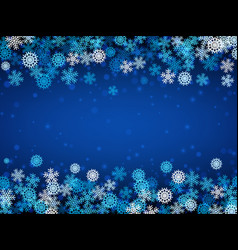 falling snow christmas and new year background vector image