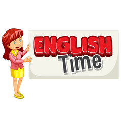 Font design for word english time with english vector