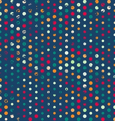 Funky points seamless pattern with grunge effect vector