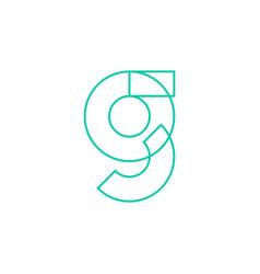 g letter logo geometric line outline icon mark vector image