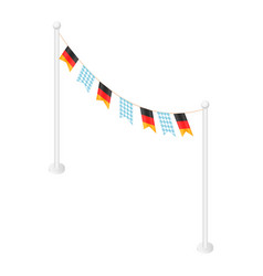 german oktoberfest flags festival icon isometric vector image