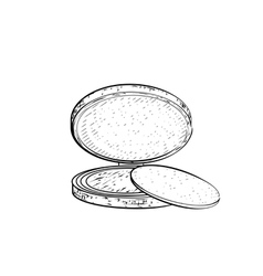Hand drawn powder vector
