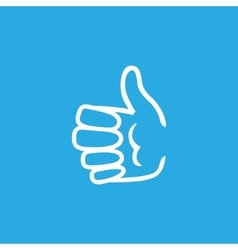 Hand Showing Ok on Blue Background vector
