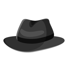 Hat icon gray monochrome style vector