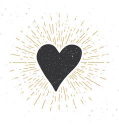 heart symbol hand drawn sketch doodle vintage vector image