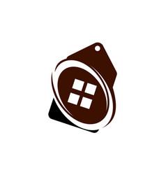 home tag logo design template vector image