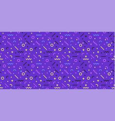 horizontal seamless geometric pattern memphis vector image