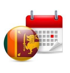 Icon of National Day in Sri Lanka vector