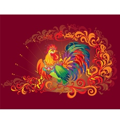 image rooster symbol new year 2017 vector image