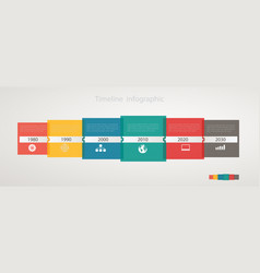infographic timeline with icons step by step vector image