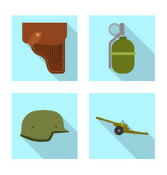 isolated object of weapon and gun sign set of vector image