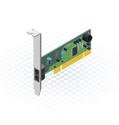 Isometric Network Card vector