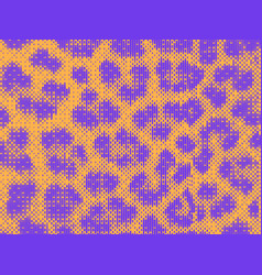 leopard pixel art style stains pattern design vector image