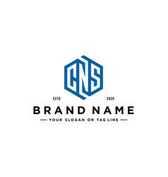 Letter cns logo design vector