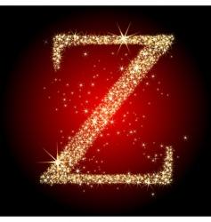 letter star z vector image vector image
