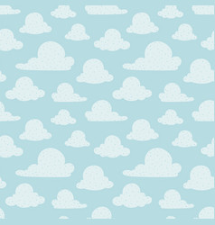 light blue clouds seamless pattern vector image