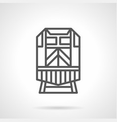 locomotive black simple line icon vector image