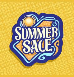 Logo for summer season sale vector